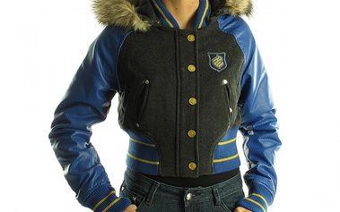 Dámska šedo-modrá bunda Rocawear