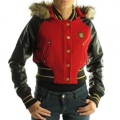 Dámská černo-červená bunda Rocawear