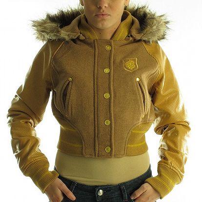 Dámska hnedo-béžová bunda Rocawear
