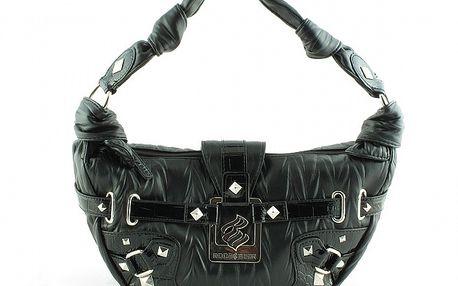 Dámská černá kabelka Rocawear s kovovými detaily