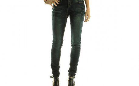 Dámské tmavě modré skinny džíny Rocawear se zlatými detaily