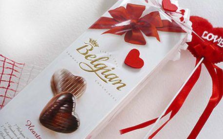 Belgická čokoládová srdce za skvělých 69 Kč!