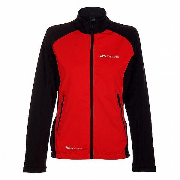Dámská červeno-černá softshellová bunda Hannah