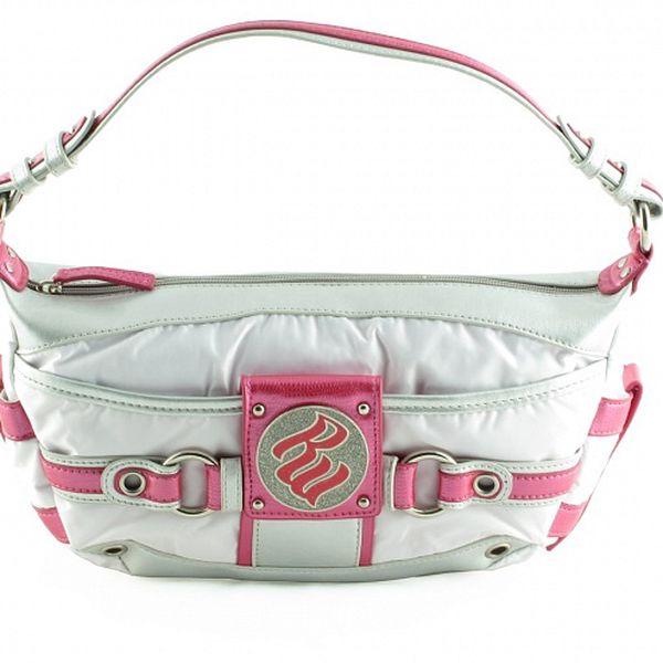 Dámská malá bílo-růžová kabelka Rocawear