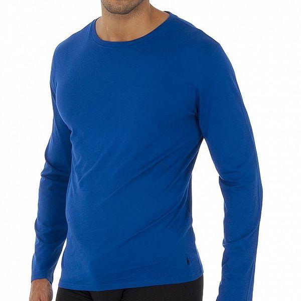 Světle modré triko Ralph Lauren s dlouhým rukávem