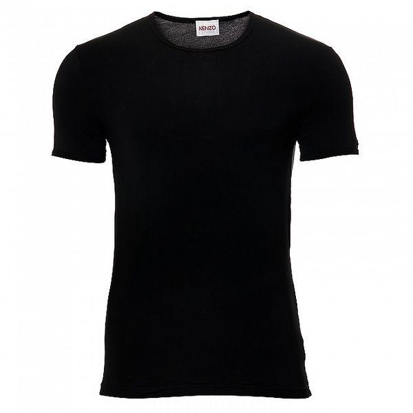 Pánske čierne elastické tričko Kenzo