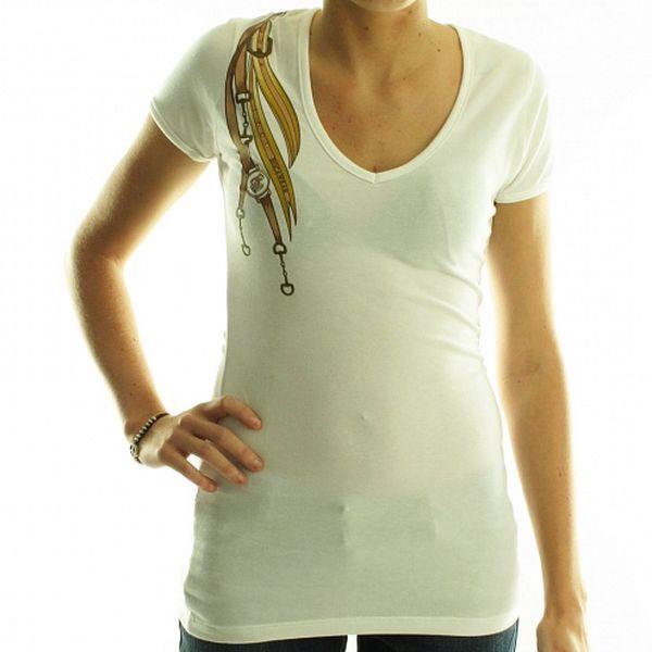 Dámske biele tričko Rocawear s potlačou
