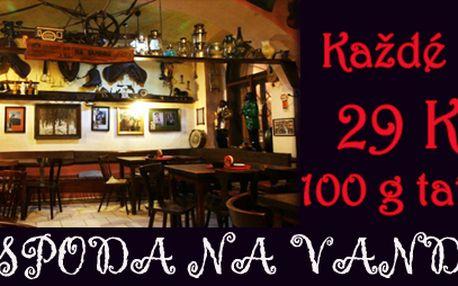 Každé úterý 100 g tataráku + topinky za 29 Kč!