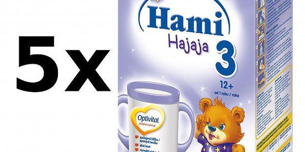 Pokračovací kojenecká mléčná výživa Hami 3 Hajaja Optivital - 5 x 500g