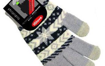 """Zimní dotykové rukavice """"iGLOVE"""" z hřejivé a průžné pleteniny – pro snadné ovládání chytrých telefonů a tabletů, univerzální velikost, výběr z 6 barev!"""
