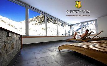 3-dňový pobyt s polpenziou pre 2 osoby v hoteli SLIEZSKY DOM**** priamo pod Gerlachom! V cene aj 2-hodinový wellness a transfer priamo na hotel (1670 m.n.m.)!