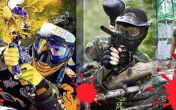 Paintball!!!Přijďte si užít nevšední adrenalinový zážitek s Vaší rodinou, přáteli nebo pracovním kolektivem!Nyní se slevou 50 %!!!Akce zahrnujezapůjčení kompletního ochranného vybavení (maska, rukavice, nákrčník), maskovacího obleku, zbraně s CO2 bombou a 150 ks kuliček.