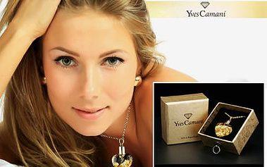 Srdce Yves Camani plněné ryzím zlatem se slevou 74 %!