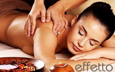 Masáž chrbta, klasická masáž alebo masáž chrbta, rúk a nôh ZA POLOVICU v exkluzívnom salóne EFFETTO! Uvoľnite stuhnuté svaly, odbúrajte stres a relaxujte!