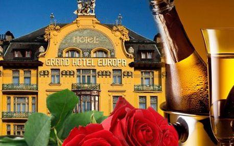Luxusní romantická noc v Grand Hotelu Evropa i s večeří!
