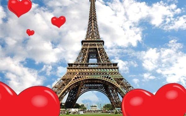 Valentínsky 5-dňový romantický zájazd do Paríža s prehliadkou mesta za 159 €