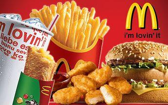 Šťavnatý Big Mac sendvič + veľké hranolky + jablková taštička len za 2,70 € alebo 9 nugetiek + veľký sýtený nápoj + jablková taštička len za 3,20 €.