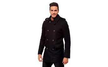 Pánský černý zimní kabát Bendorff