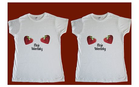 Valentínske dámske tričko len za 8,80 €!