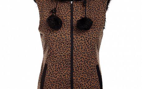 Dámska obojstranná leopardia vesta Pussy Deluxe