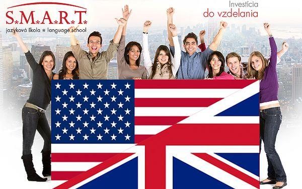 25 € za konverzačný kurz angličtiny v rozsahu 8 hodín.