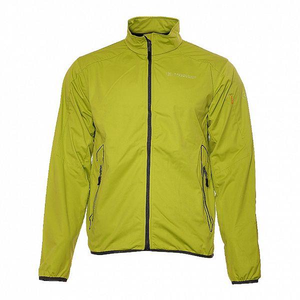 Pánská světle zelená lehká softshellová bunda Trimm