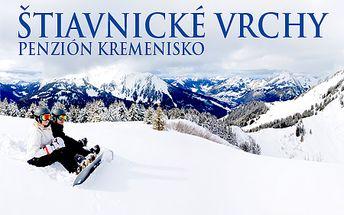 3-dňový pobyt pre 2 osoby v Penzióne Kremenisko v Banskej Štiavnici v blízkosti lyžiarskeho strediska Salamandra resort! V cene polpenzia, vstup do vírivky a sauny!