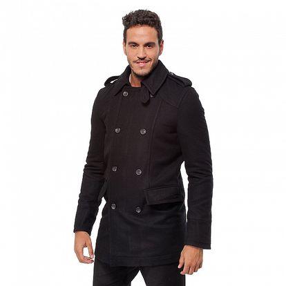 Pánsky čierny zimný kabát Bendorff