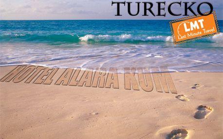 8-dňový letecký zájazd do TURECKA do 5***** hotela Alara Kum so službami All Inclusive! Odlety z BA počas celej sezóny! Pre rezerváciu stačí zaplatiť zálohu 99 €!