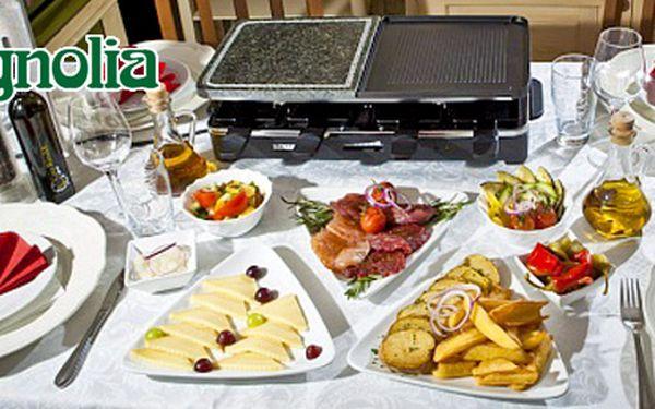 Raclette se třemi druhy masa pro 2 osoby