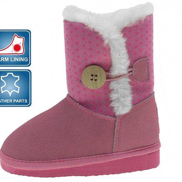 Detské ružové kapce Beppi