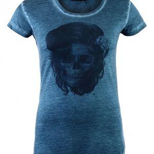 Dámské tyrkysové tričko Ron Abraham s Amy