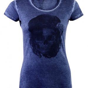 Dámské modré tričko Ron Abraham s Amy