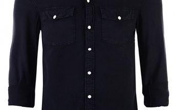 Pánska čierna džínsová košeľa Ron Abraham