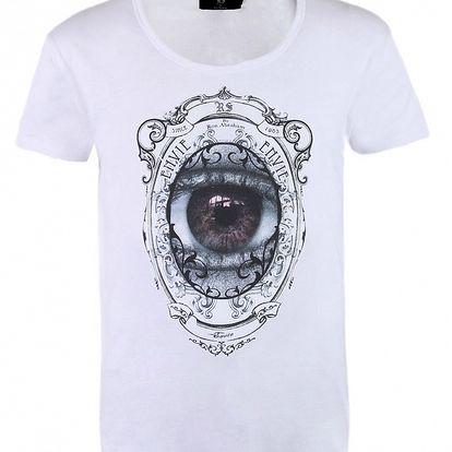 """Pánske biele tričko Ron Abraham s čiernou potlačou """"Envie"""""""