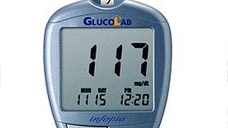 Unikátní, technologicky vyspělý glukometr – měřič hladiny glukózy v krvi –v balení s 25 ks testovacích proužků