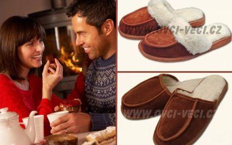 Dámské luxusní pantofle z ovčí vlny!