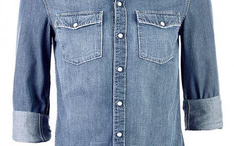 Pánská světle modrá džínová košile Ron Abraham