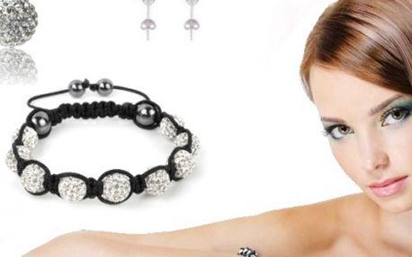 Nahoďte image Hollywoodskych hviezd! Shamballa set – náramok, náhrdelník a náušnice.