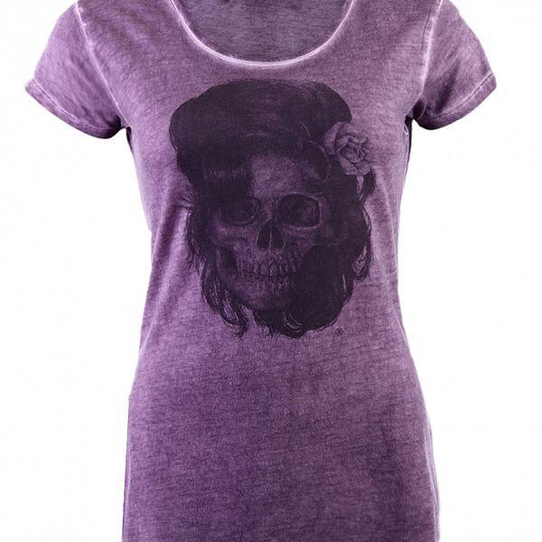 Dámské fialové tričko Ron Abraham s Amy
