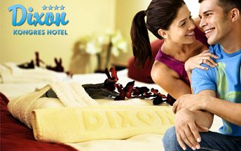 Valentínsky pobyt s polpenziou pre 2 osoby v hoteli DIXON**** na 1 alebo 2 noci! V cene aj každodenný 120-minútový wellness a romantická večera a jacuzzi pri sviečkach!