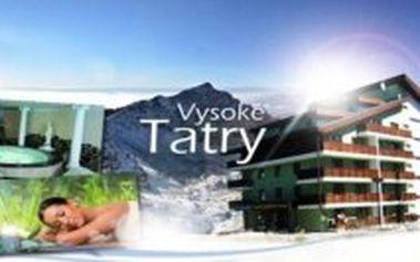 3 denní celoroční pobyt v Tatrách pro 2 osoby s polopenzí, welcome drinkem a s neomezeným vstupem do wellness
