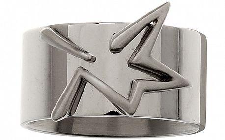 Dámský ocelový prsten Thierry Mugler se stříbrnou hvězdou