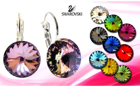 Elegantné náušnice Rivolky len za 4,99 €. Náušnice Swarovski elements vo viacerých farebných prevedeniach až so 69% zľavou. Pri kúpe troch získate jedny zdarma.