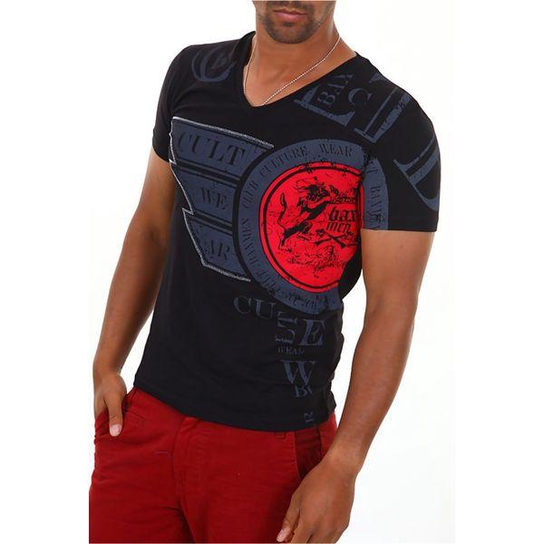 Pánské tričko Baxmen černé s potiskem