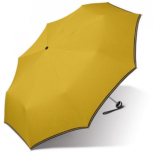 Dámský kanárkově žlutý deštník Esprit s černým lemem