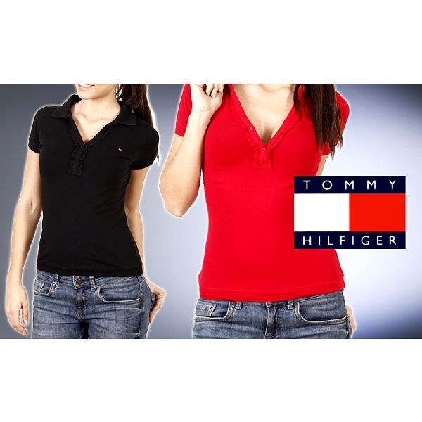 Značkové oblečenie so zľavou 60%. Len 39,99 € za dámske polo tričko s krátkym rukávom Tommy Hilfiger vrátane poštovného.