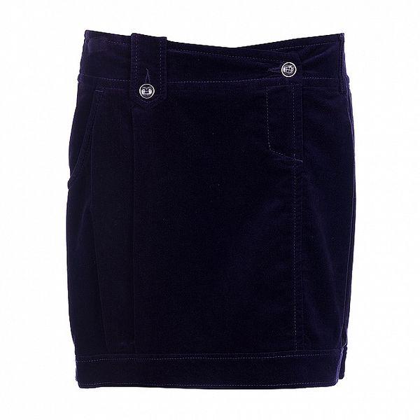 Dámská tmavě fialová sametová sukně Pietro Filipi