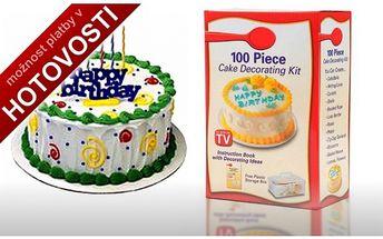 Zdobička dortů s nástavci - 100kusů! Vytvářejte doma slaďoučké kreace, za které by se nemusel stydět ani profesionální cukrář! Buďte originální. Skvělá cena jen 199,-Kč.