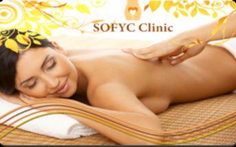 Iba 1€ za zľavový kupón so 61% zľavou platnou NEOBMEDZENE A OPAKOVANE až do 1.4.2013 na 30-minútovú klasickú relaxačnú masáž chrbta a krčnej chrbtice vo fyzioterapetutickom centre v SOFYC Clinic! Cena masáže po zľave 61% neuveriteľných 3,90€!